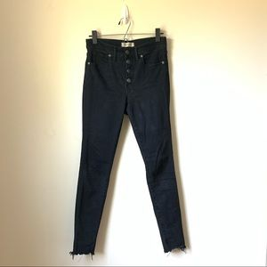 """Madewell 9"""" mid rise button up skinny jeans"""
